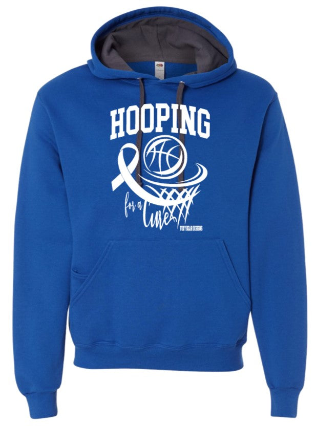 Hooping for a Cure Palmer ROYAL Hoodie