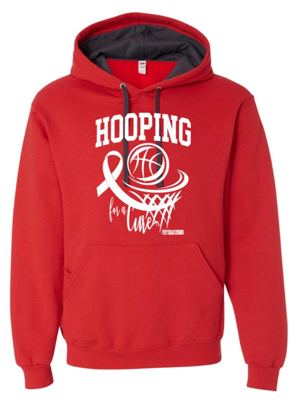 Hooping for a Cure Wasilla RED Hoodie