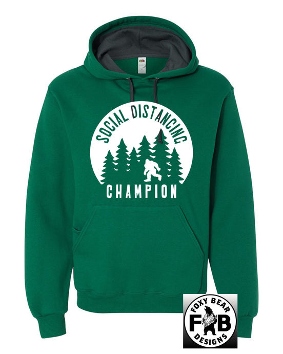 SOCIAL DISTANCING CHAMPION GREEN HOODIE