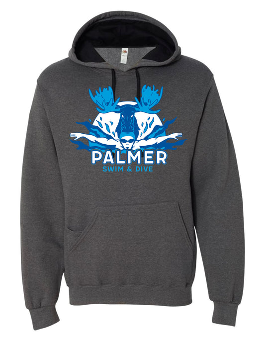 PHS SWIM HOODIE WITH COLOR LOGO
