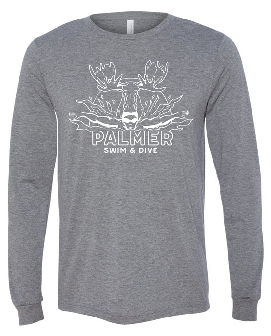 PALMER HIGH SWIM LONG SLEEVE WITH WHITE LOGO