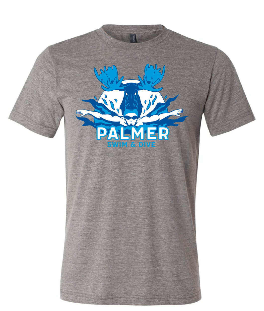 PHS SWIM T-SHIRT WITH COLOR LOGO