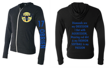 Load image into Gallery viewer, PHS Softball Lightweight Zip Hoodie