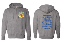 Load image into Gallery viewer, PHS Softball Full Zip Hoodie