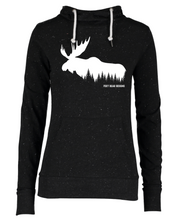 Load image into Gallery viewer, Moose in the trees on Women's Hoodie