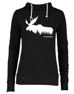 Moose in the trees on Women's Hoodie