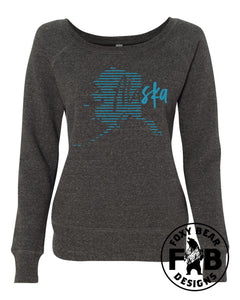 Alaska Stripes Wide Neck Sweatshirt