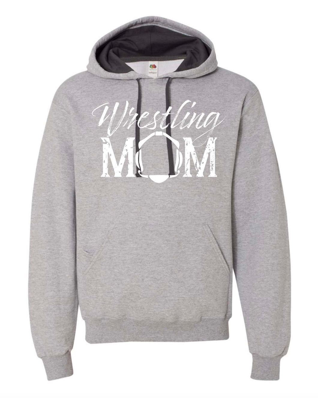 WRESTLING MOM WITH HEADGEAR HOODIE