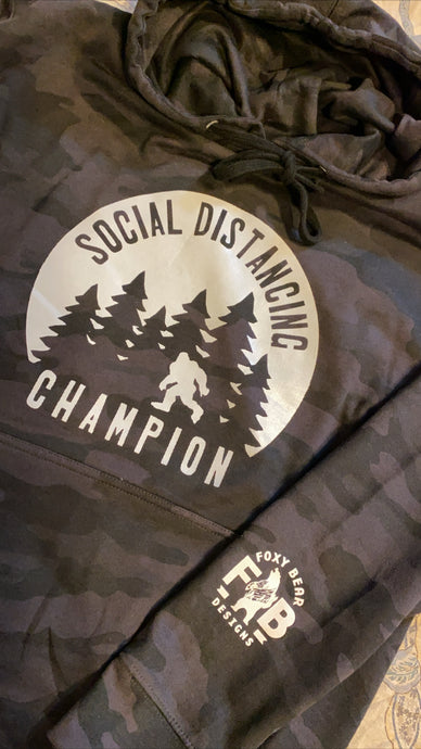SOCIAL DISTANCING CHAMPION HOODIE