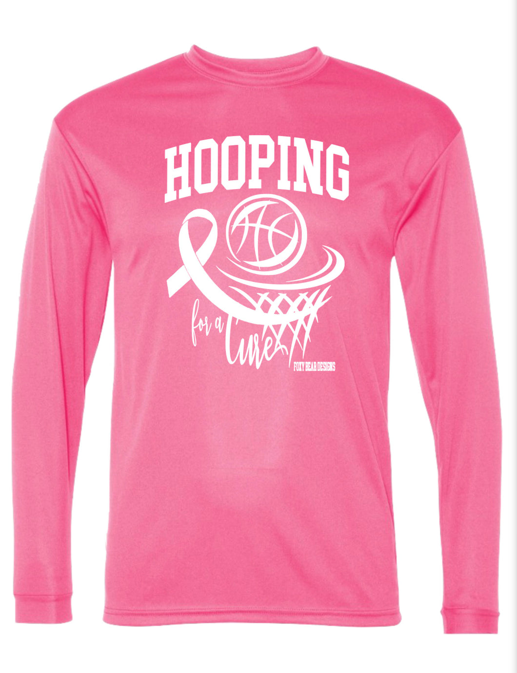 Hooping for a Cure Long Sleeve Shooting Shirt