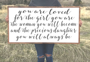 Loved Daughter Wood Sign