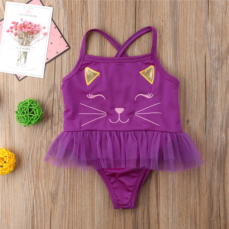 c0a34a3ddd ... Load image into Gallery viewer, Ballerina Kitty Swimsuit ...