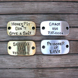 Stamped Nameplate, Accessories & Nameplates, Karma Collars, Karma Collars: Custom Leather Dog Collars