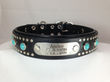 Kona Leather Dog Collar, Double D-Ring Collars, Karma Collars, Karma Collars: Custom Leather Dog Collars