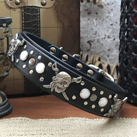 Calipso Leather Dog Collar