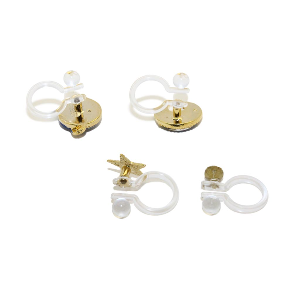 Galaxy Invisible Clip On Earring Set
