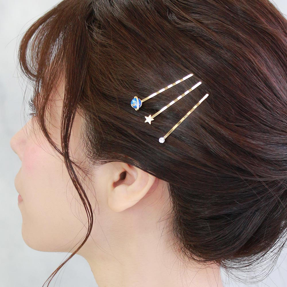 Saturn and Star Hairpin Set