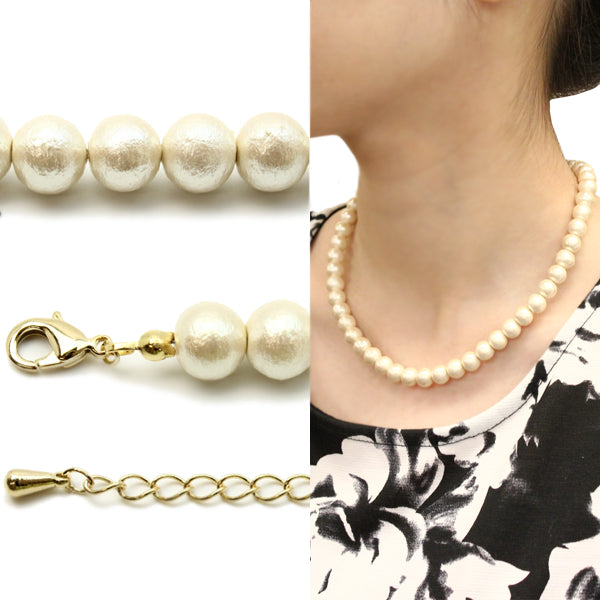 Cotton Pearl simple Necklace - Osewaya