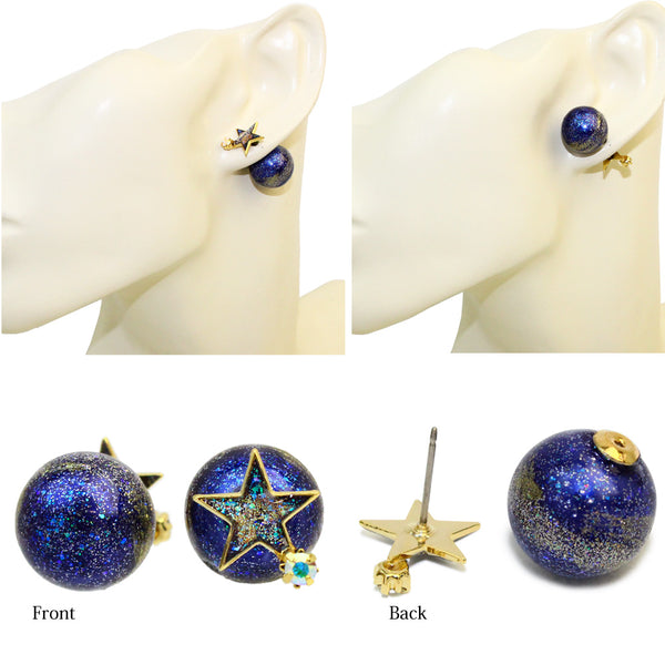 Planet Peal Duble Sided Studs