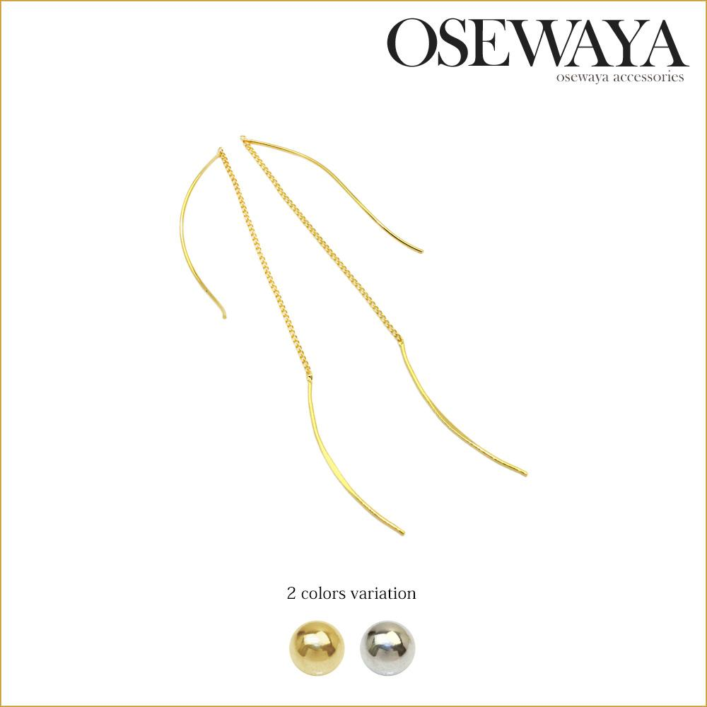 Curve Stitch Earrings - Osewaya