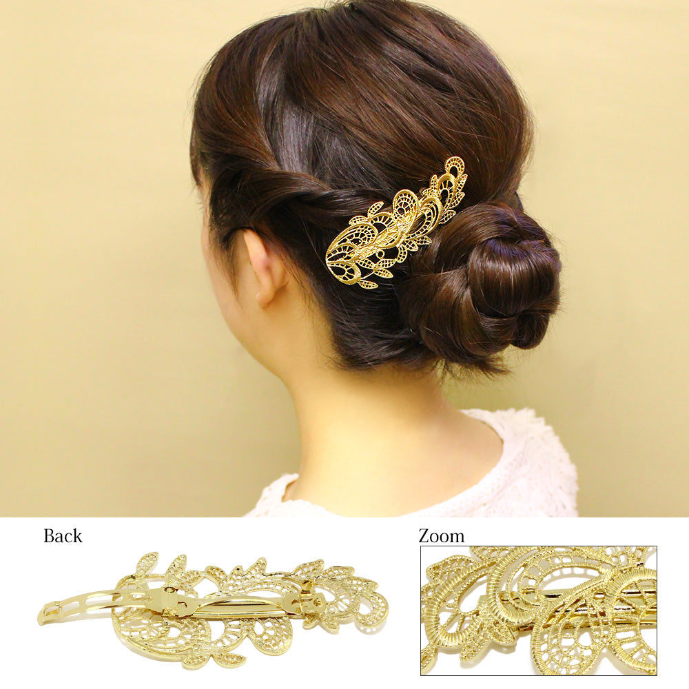 Leaf Lace Hair Slide - Osewaya