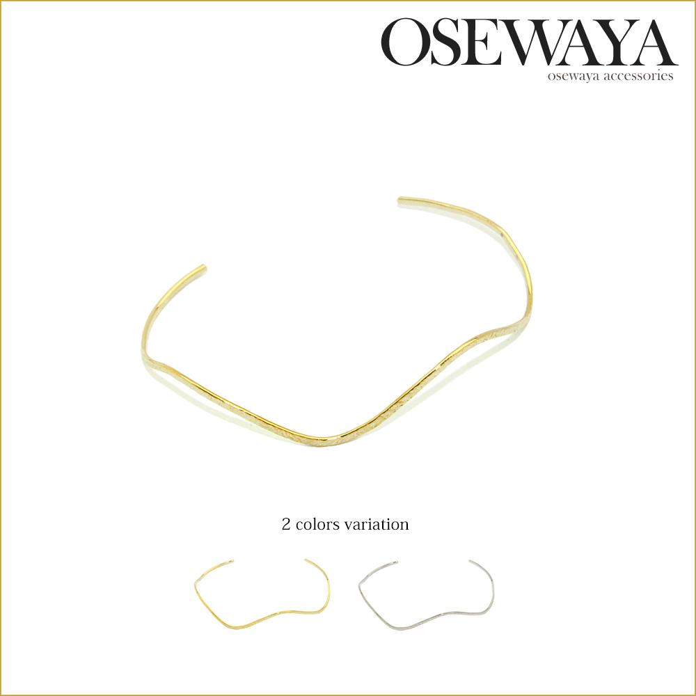 Waved wire Bangle - Osewaya