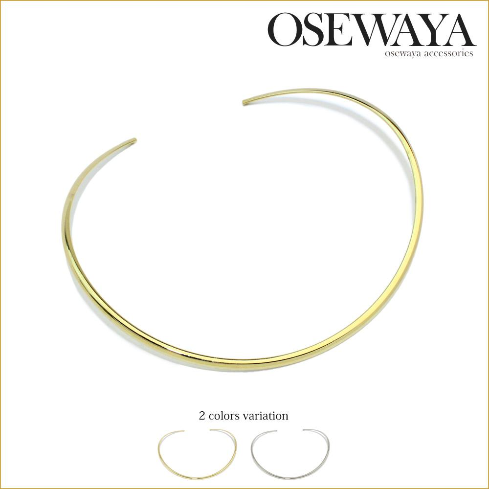 Gold and Silver Collar Necklace - Osewaya