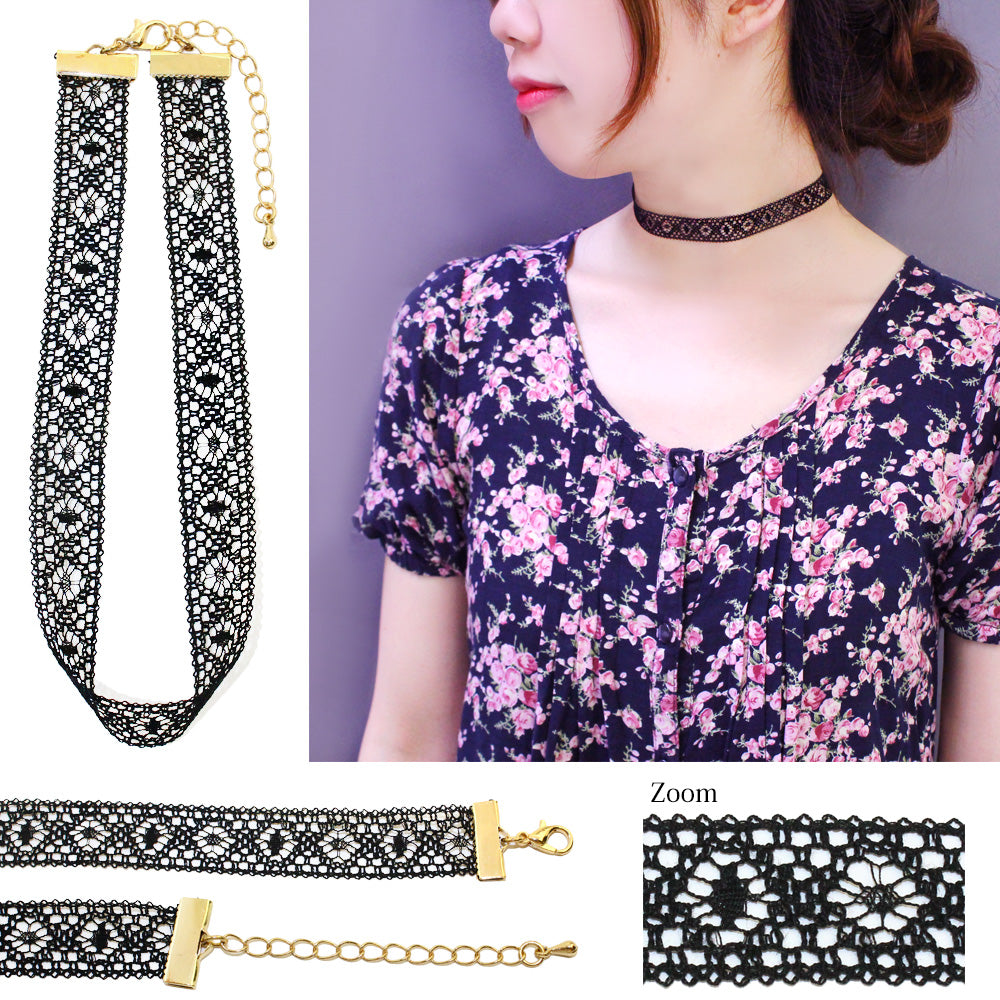 Wide Ribbon Choker - Osewaya
