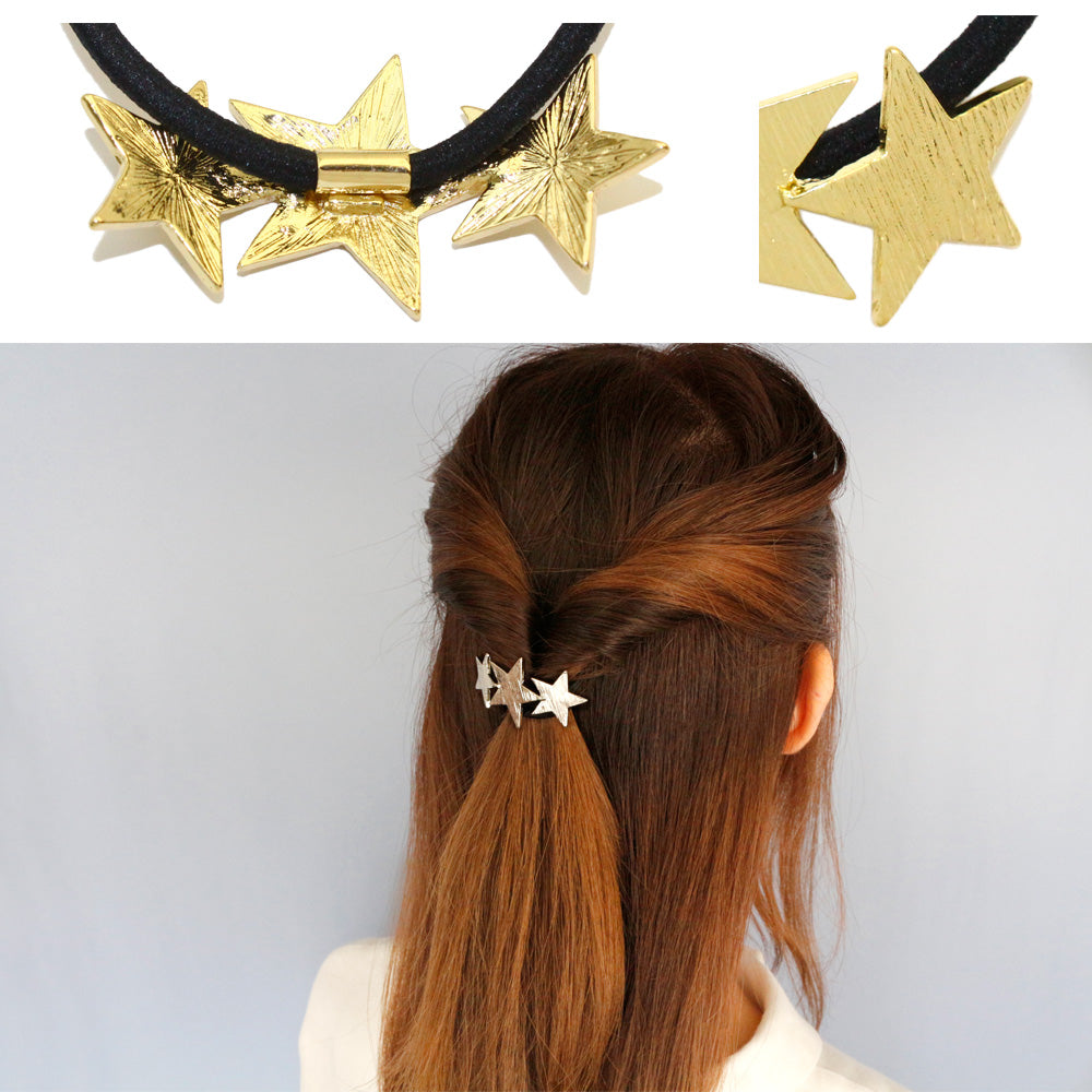 Metallic Stars Hair Tie - Osewaya