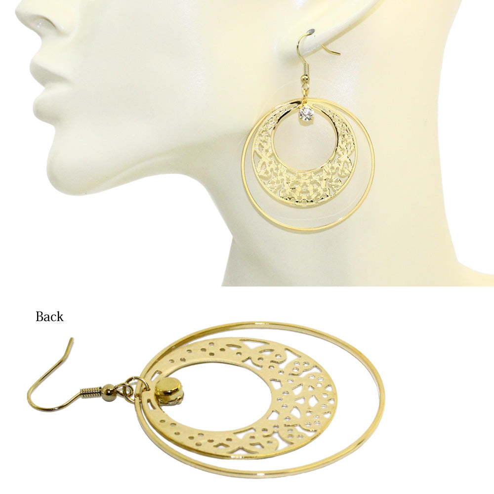 Openwork Hoop Earrings - Osewaya