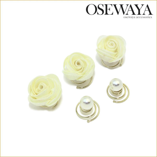 Rose Flower Spiral Hair Pins Spiral Clips