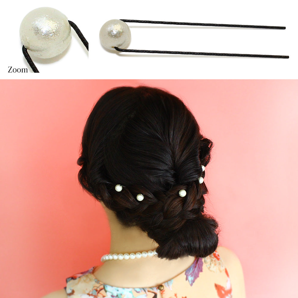 10mm Shine Pearl Hairpin Set - Osewaya
