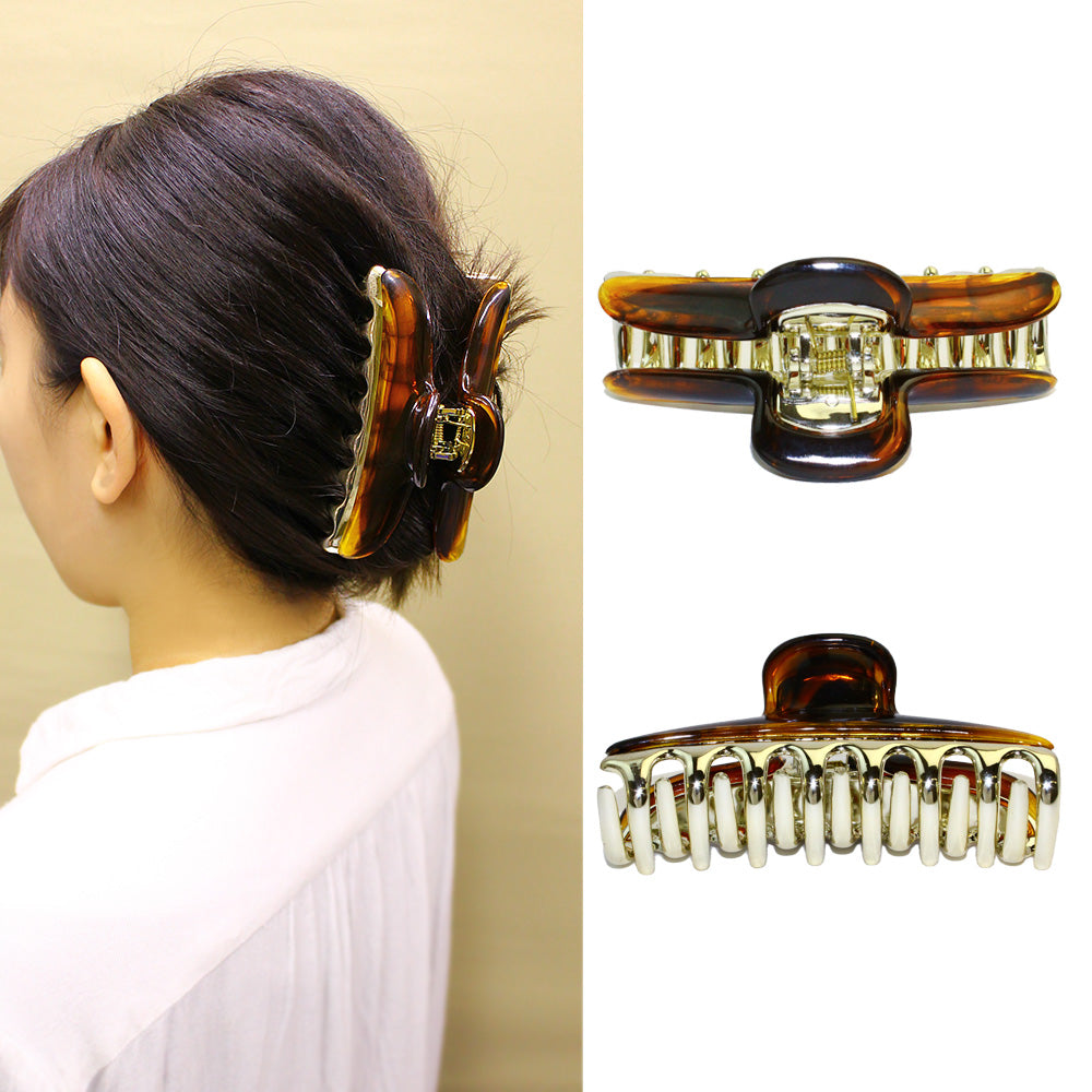 Plastic Couloured Clear Hair Clip - Osewaya