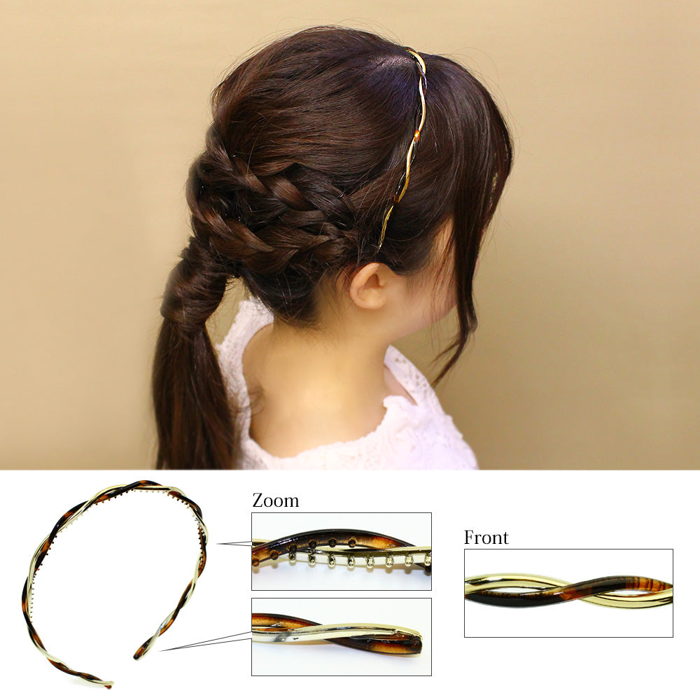 Twisted Plastic Strand Headband - Osewaya