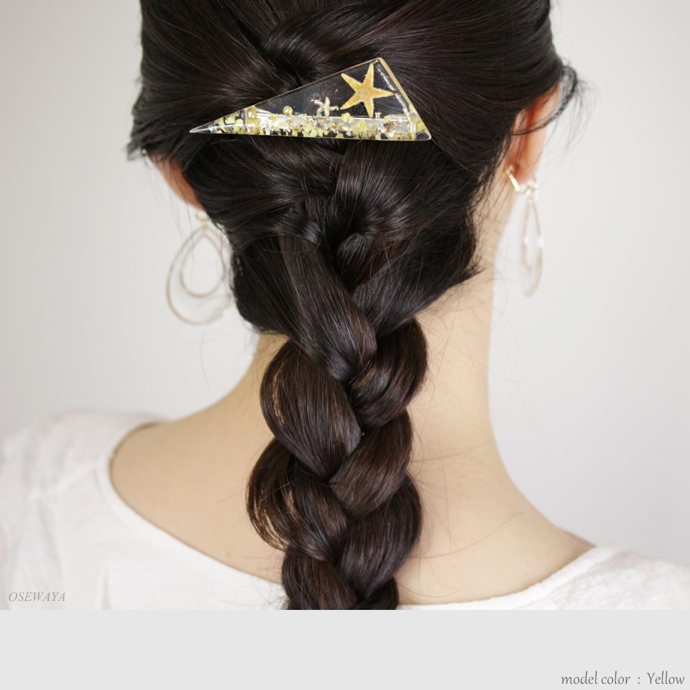 Triangle Seascape Hair Clip - Osewaya