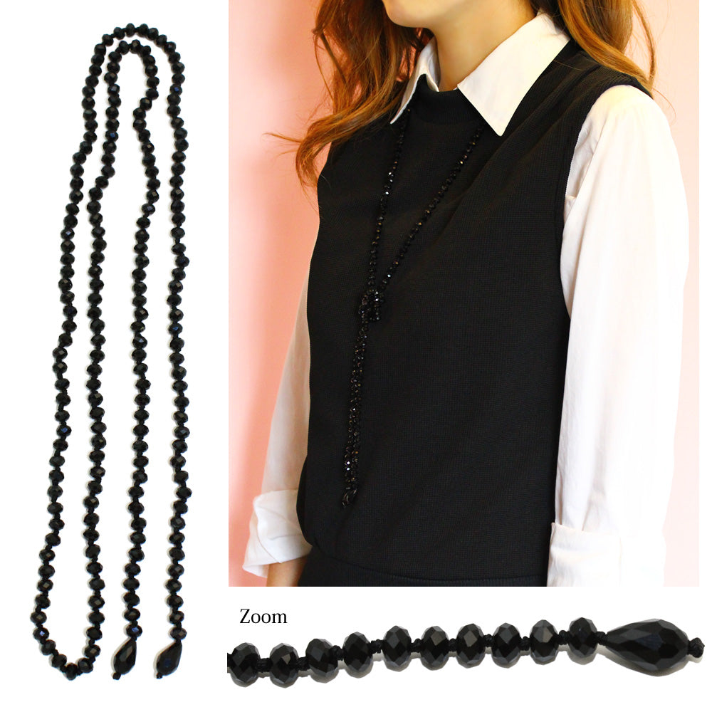 Glass Beads Lariat necklace - Osewaya