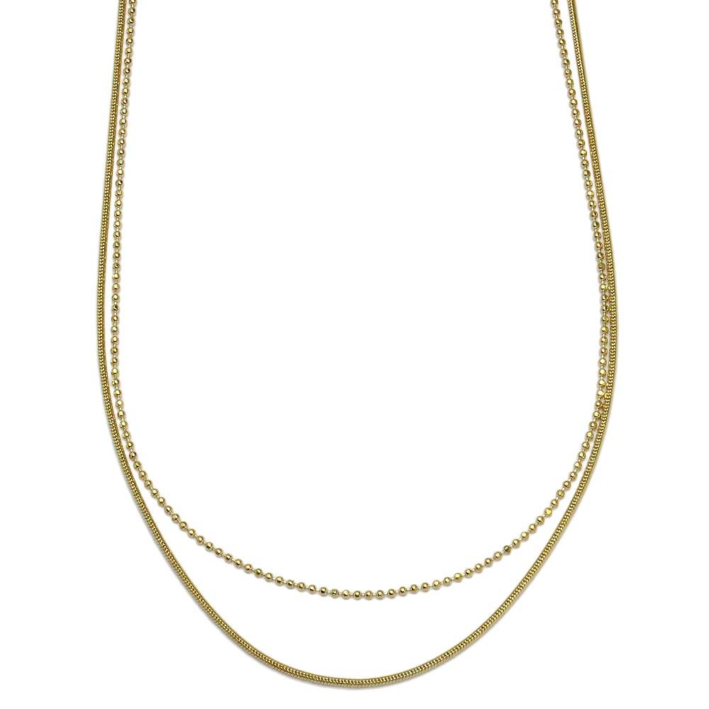 Gold and Silver Chain Necklace - Osewaya