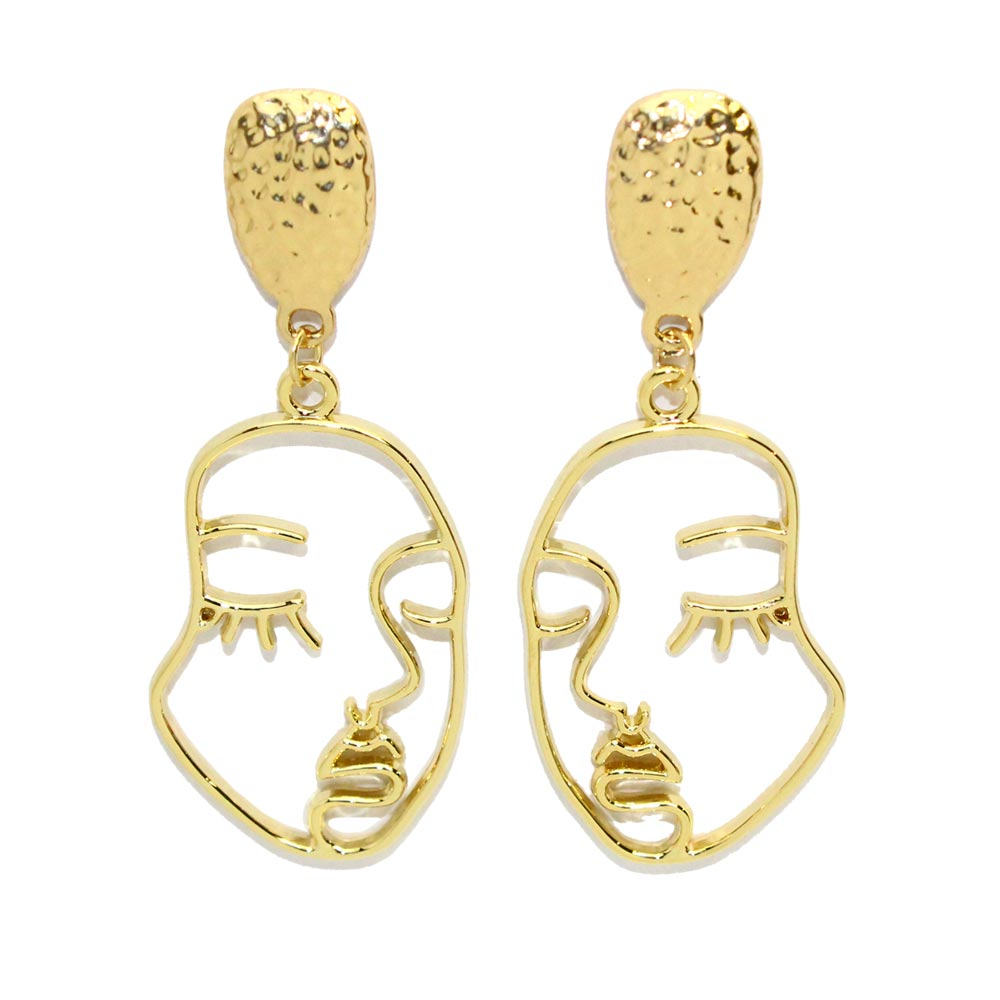 Sleeping Face Earrings - Osewaya