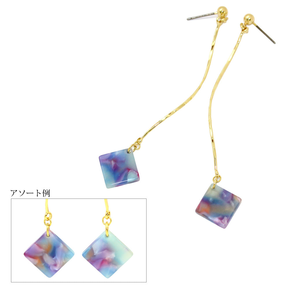 Twisted Wire Drop Square Earrings - Osewaya