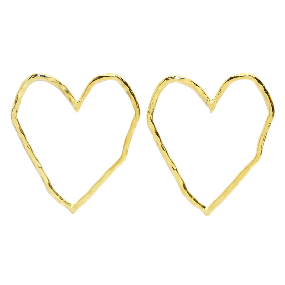 Square Heart Earrings - Osewaya