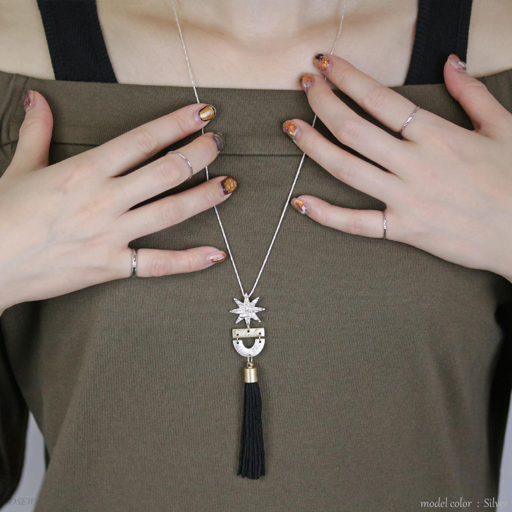 Tassel and Octagram Necklace - Osewaya