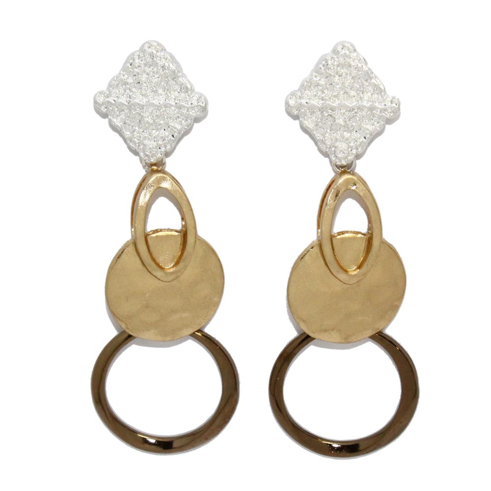 Gloss Plating Multi Link Earrings - Osewaya