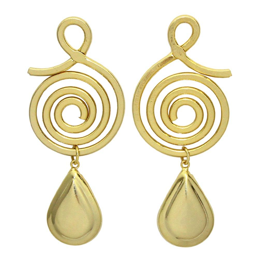 Spiral Teardrop Earrings - Osewaya