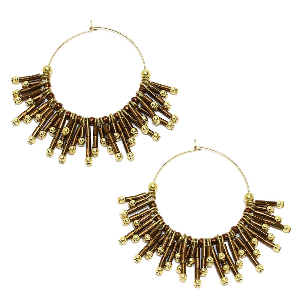 Fringe Hoop Earrings - Osewaya