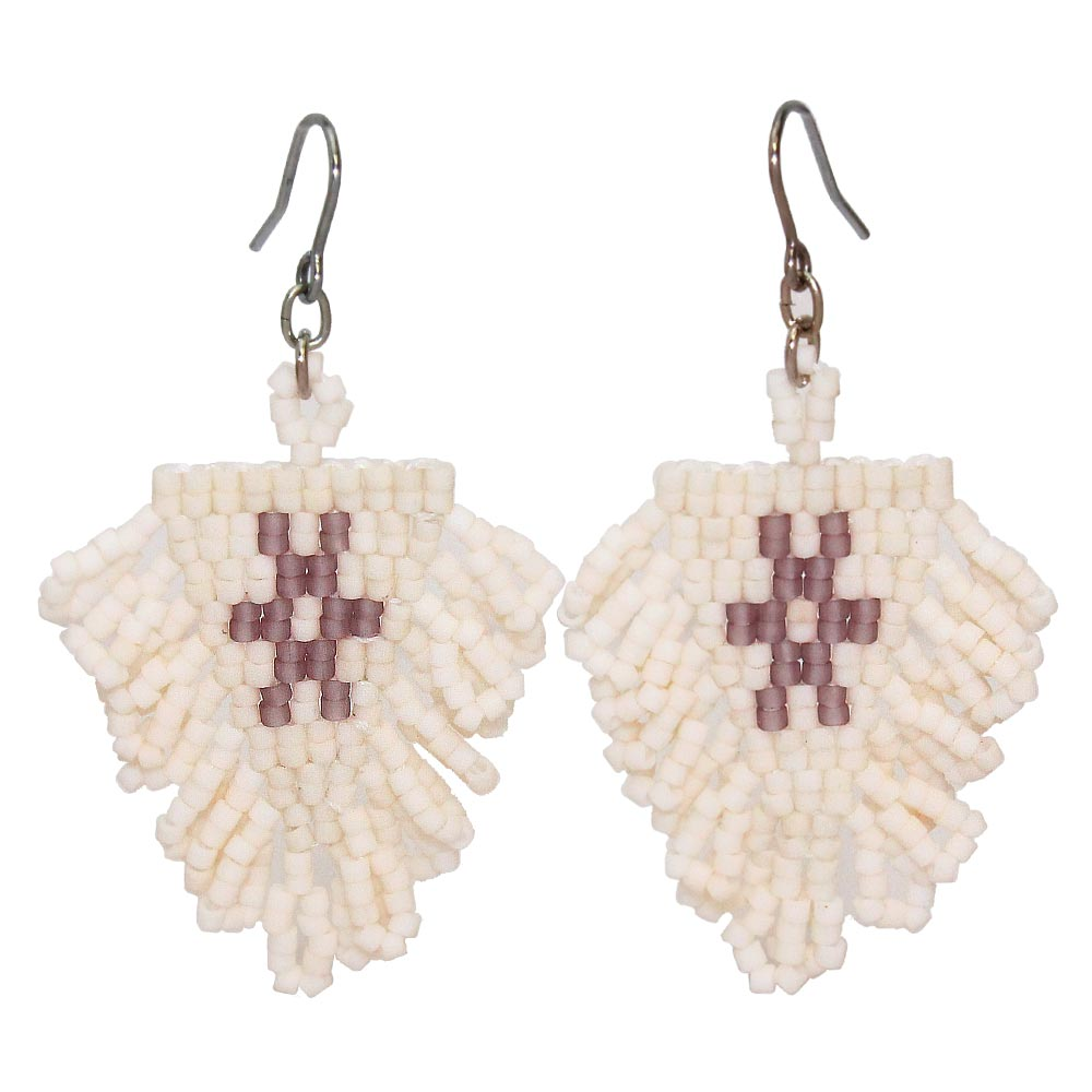 Beads Tapestry Hook Earrings - Osewaya