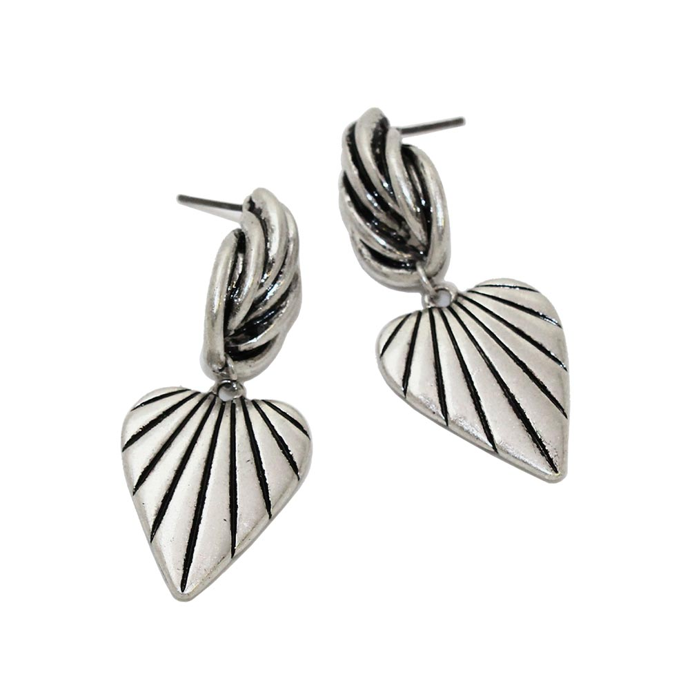 Heart Leaf Drop Earrings - Osewaya