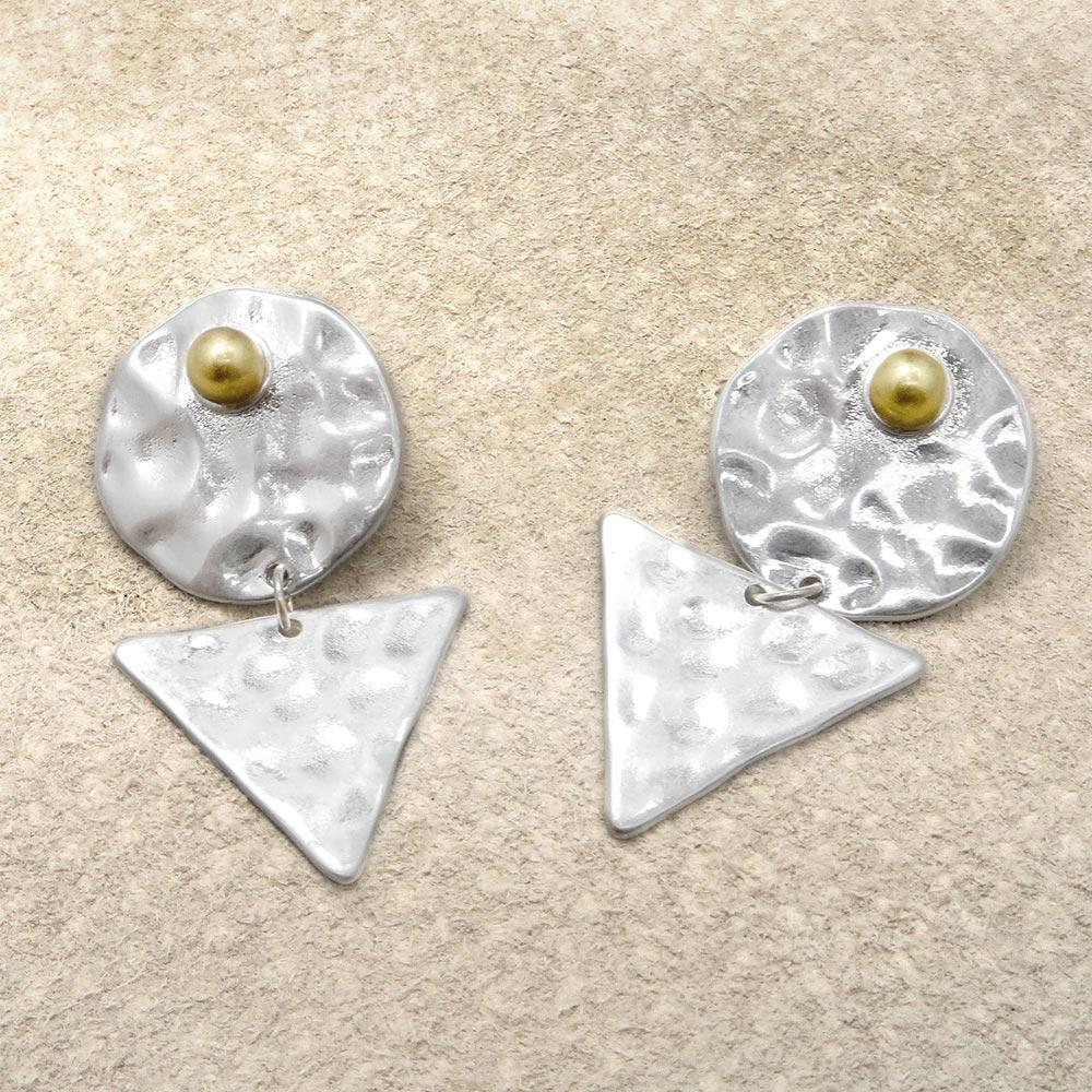 Circle and Triangle Geometric Earrings - Osewaya
