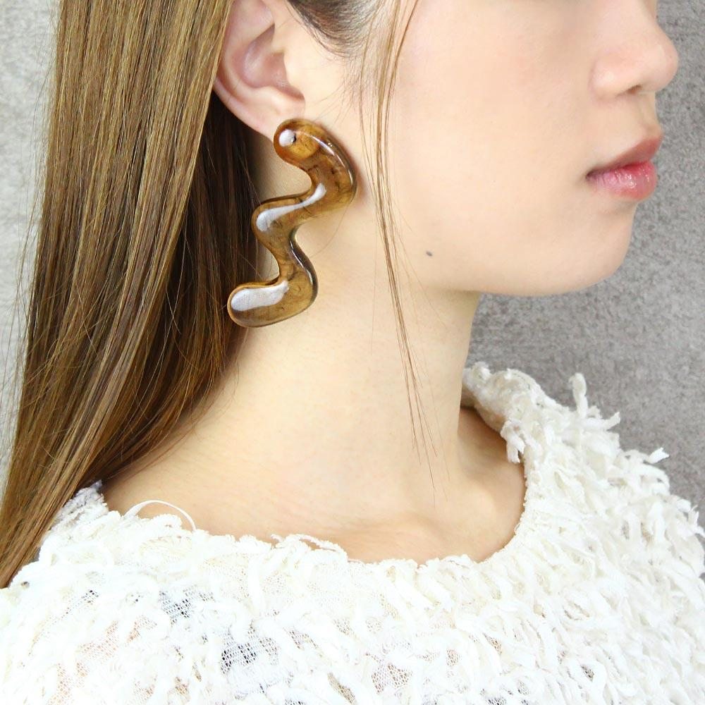 Translucent Large Wave Earrings