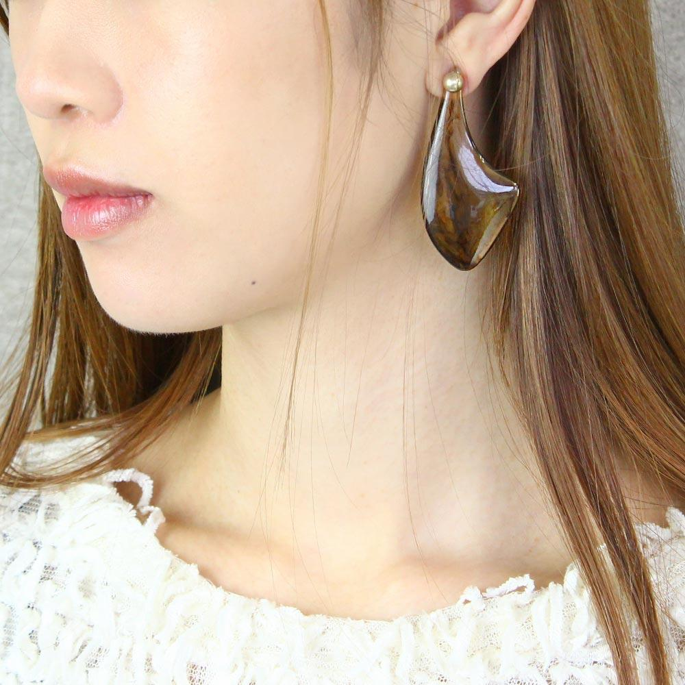 Smoked Translucent Fin Earrings