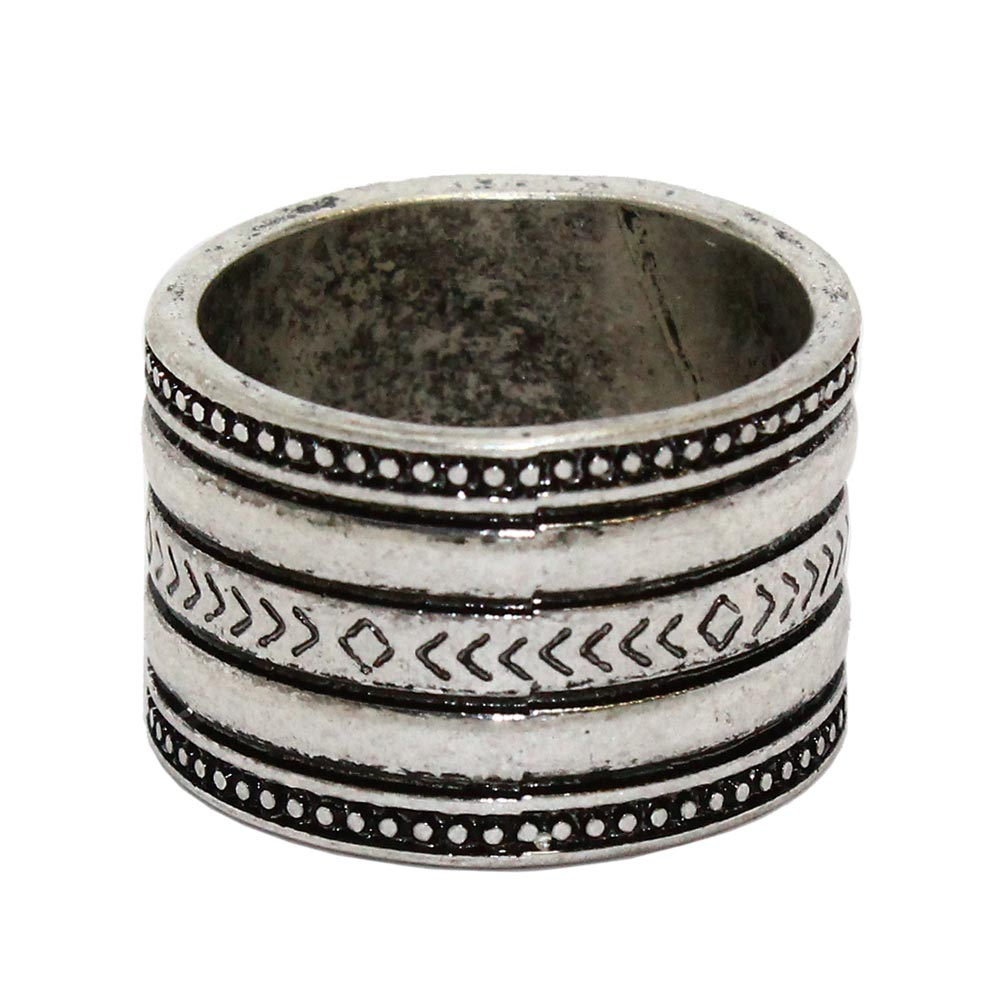 osewaya - Nickel Free Carved Wide Band Ring - LIMITED NUMBER - Ring